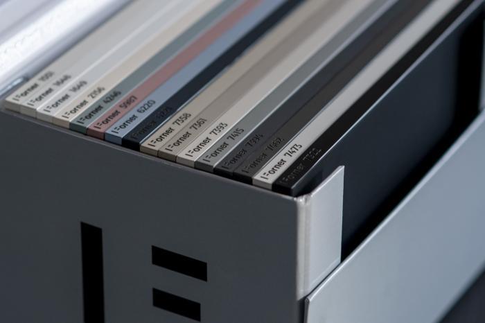 ultra matt boards Forner Velvet Collection samples box